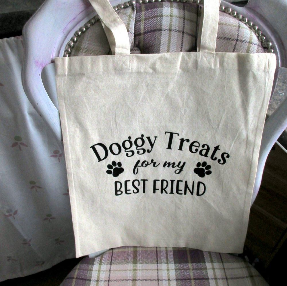 Canvas 'Doggy Treats' Shopping Bag